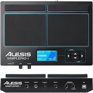 alesis samplepad 4 drum trigger midi interface built in percussion library 694318018774 ebay. Black Bedroom Furniture Sets. Home Design Ideas