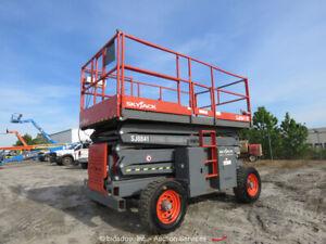 2013 Sky Jack SJ8841 41' 4WD Diesel Rough Terrain Scissor Man Lift bidadoo