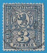 + 1888 Berlin Germany 3pf Dancing Bear Private Die Local Post used