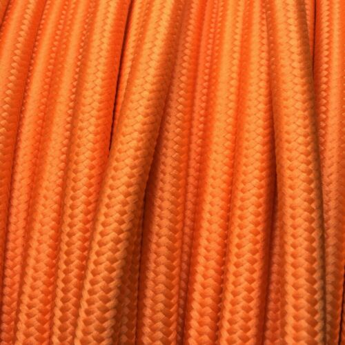 la direction de fibres textiles tressage 3x0,75 ronds orange H03vv câble textile