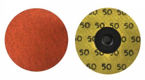 "Norton BLAZE X-Treme Life 50mm TR Sanding Discs 2/"" Roloc 50pk Speedlok P50 Grit"