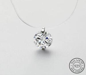 925-Sterlingsilber-Halskette-Damen-Halsketten-Zirkonia-Anhaenger-Choker-Silber