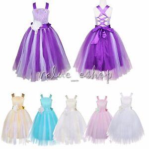 Kid-Communion-Party-Prom-Princess-Pageant-Bridesmaid-Wedding-Flower-Girl-Dress