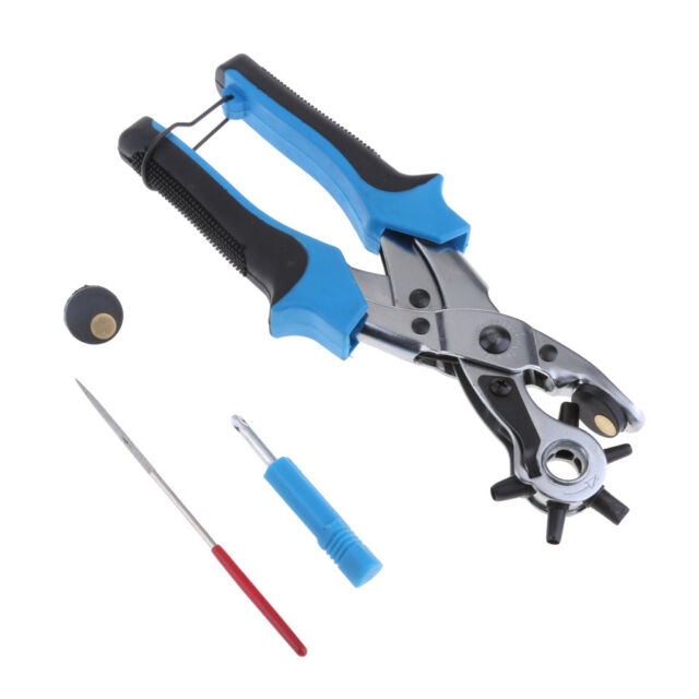Revolving Leather Belt Hole Punch Puncher Plier Craft Tool with 100± Eyelets