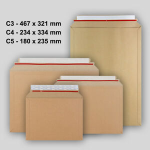 Envelope Peel /& Seal All Size Good Quality Brown Manilla Capacity Book Mailers