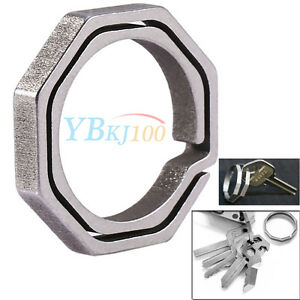 Camping-Titanium-Alloy-Quickdraw-Mirco-Key-Ring-Hanging-Buckle-Keychain-Tool