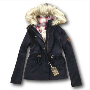 hollister navy coat