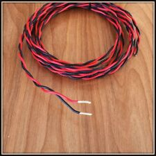 Type E Teflon (PTFE) 16awg high temp hook up wire twisted pair red/black