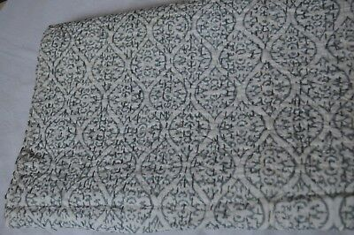 7 Indian Kantha Quilt Cotton Bed spread Cotton Handmade Strip Bed cover Queen