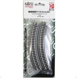 Kato-20-172-Unitrack-Compact-Rail-Courbe-Curve-Track-R183mm-45-4-pcs-N
