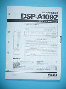 Umfassende Spezifikationen Und GrößEn Sowie GroßE Auswahl An Designs Und Farben Service Manual Für Yamaha Dsp-a1092 original BerüHmt FüR Hochwertige Rohstoffe