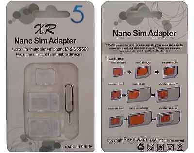 Adaptateur Carte SIM - Micro SIM - Nano Sim / Blanc compatible Iphone (SIM Card)