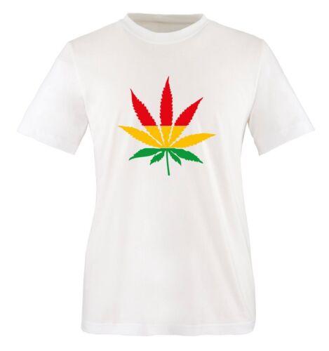 couleur Hanfblatt reagae-Deux Tons-Hommes Unisexe T-shirt Taille S à XXL diff