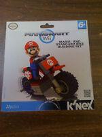 Wii/k'nex Mario Kart Mario W/ Stand Alone Bike Building Set Free Ship Us