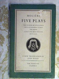 Penguin-Classics-L36-Moliere-Five-Plays-1953-The-Miser-Don-Juan-Scoundrel-Scapin