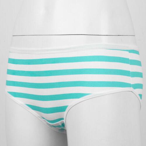 Cute Cotton Stripe Panties Briefs Japanese Style Anime Cosplay Bikini Underwear