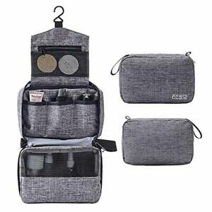 3836090bf52e Details about Hanging Travel Toiletry Bag for Men Waterproof Toiletries  Wash Holiday Shave