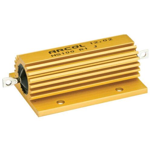 Arcol HS100 10R J 100 W aluminio revestido Resistor