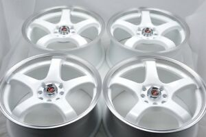 17 white Wheels Integra Cooper Galant Civic Accord XB Corolla Rims 4x100 4x114.3