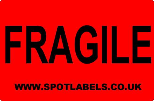 Rollo de 100 Frágil Embalaje Paquete Etiquetas Adhesivas Personalizadas Gratis