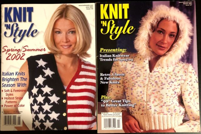 Lot Of 2! KNIT 'N STYLE Magazine
