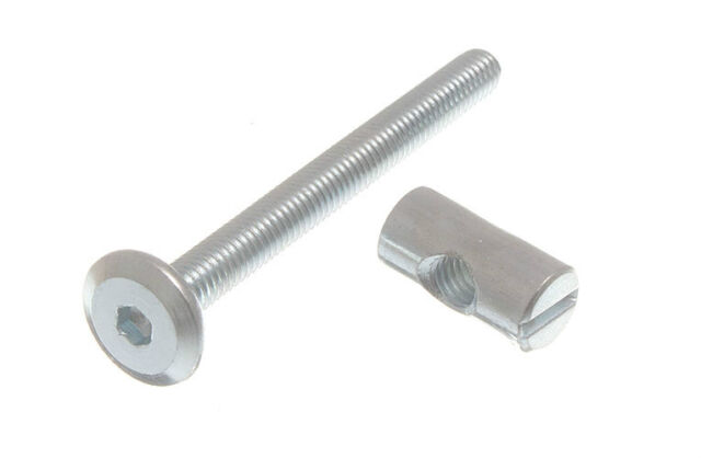 5  M6 X 60 FURNITURE BOLTS AND BARREL NUTS BEDS COTS