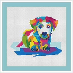 Jack-Russell-Terrier-multicolor-dog-digital-cross-stitch-pattern-PDF-cheme-DMC