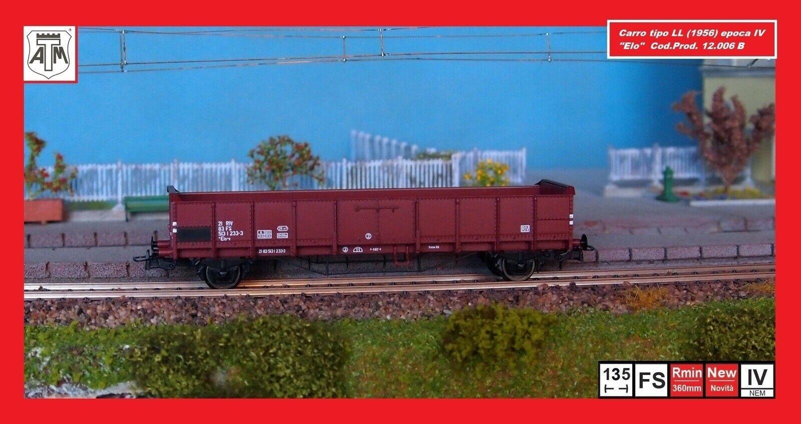 Atm Cf 12.006 B Wagon Ll Typ 1956 A Ware Hoch, Markierung Uic FS