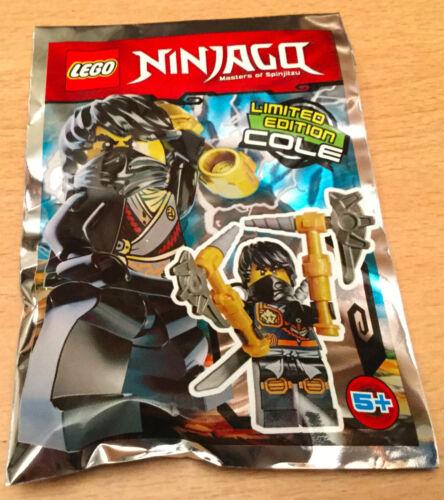 SACHET POLYBAG LEGO MINIFIGURE FIGURINE NINJA NINJAGO NEUF COLE LE NINJA NOIR V2