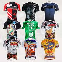 Men Cycling Jersey Team T-Shirt Sport MTB Bike Short Sleeve Bicycle Jersey Tops
