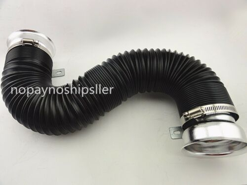 3 INCH ADJUSTABLE FLEXIBLE ENGINE COOLING AIR INTAKE DUCT TURBO TUBE PIPE HOSE