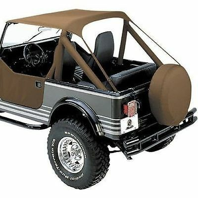 CJ-8 Scrambler and Wrangler Bestop 52508-01 Black Crush Traditional Bikini Top for 1976-1991 CJ-7