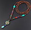 Lange-Halskette-Nepal-Boho-Anhaenger-Retro-Vintage-Holz-Handgefertigt-Perlen Indexbild 9