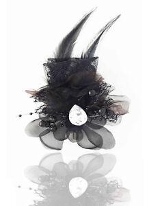Headdress-Flower-Feather-Fascinators-Hair-Pin-Brooch-Clip-Wedding-Dancing
