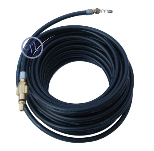 Qualcast Pressure Washer Drain Cleaner With 4 Jets 15 Meter Long Hose Jetter