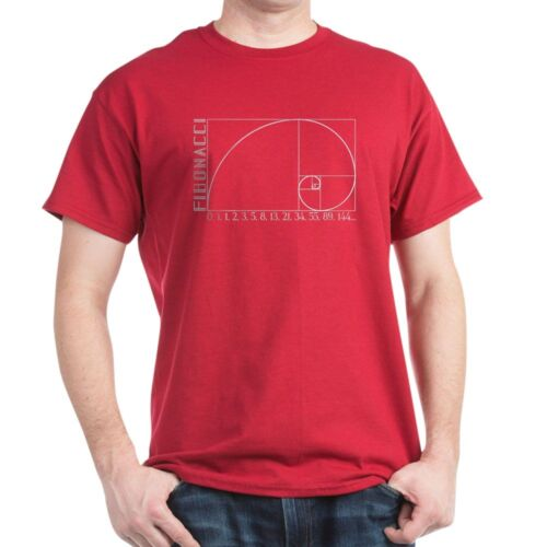 1221113181 CafePress Fibonacci Spiral T Shirt 100/% Cotton T-Shirt