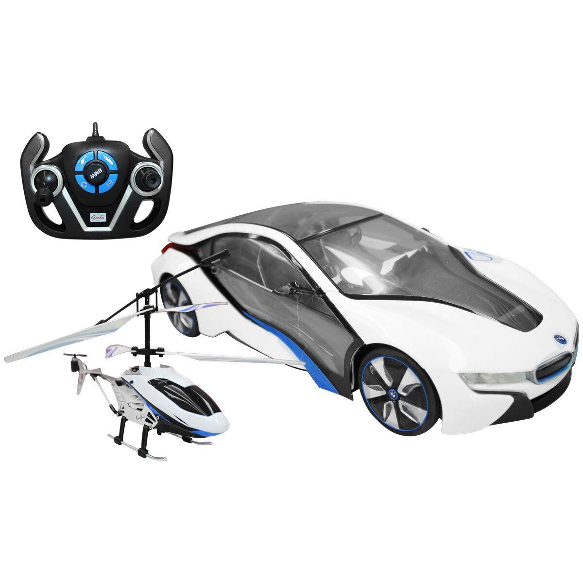 Bentley Kids - BMW i8 - Spielzeugauto Maßstab 1:14 & Helikopter - Ferngesteuert