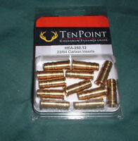Tenpoint Brass Inserts 22/64 For Carbon Crossbow Bolts - 12pk - Ten Point