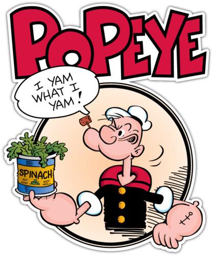 Popeye the sailor man kids cartoon car bumper window locker sticker decal 4 2x5