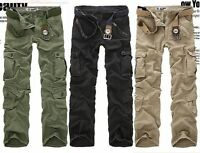 5 Farbe Herren Militär lässig Cargo Hose Trousers Freizeithose Kampfhose Jeans
