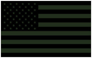American Flag Decal Sticker USA Tactical Subdued OD Green - 5