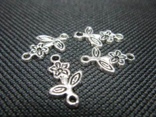 Metallperle Zwischenteil Blume 16mm Perlen 7376
