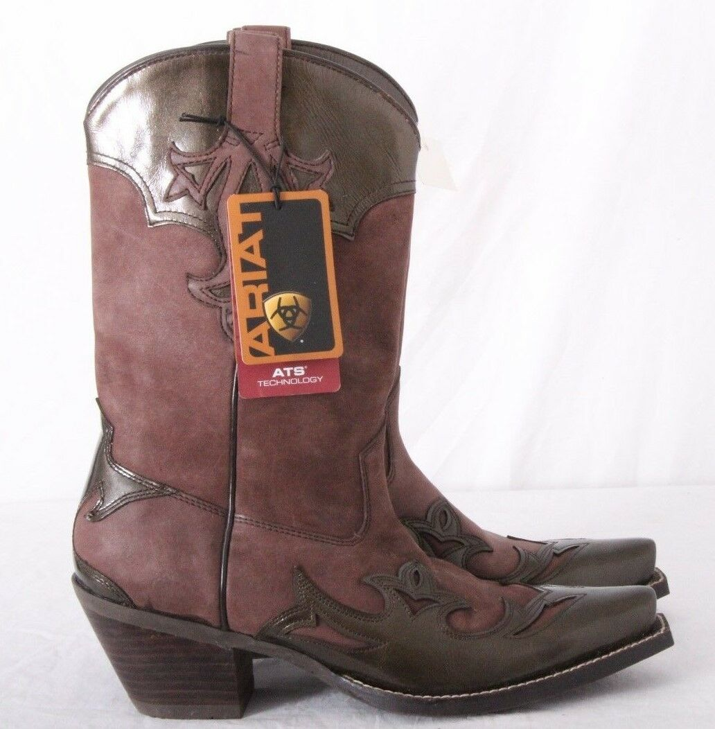 Ariat 10004753(15808) Adelaide NEW Mauve Brown Overlay Boots Women's U.S. 9.5 B