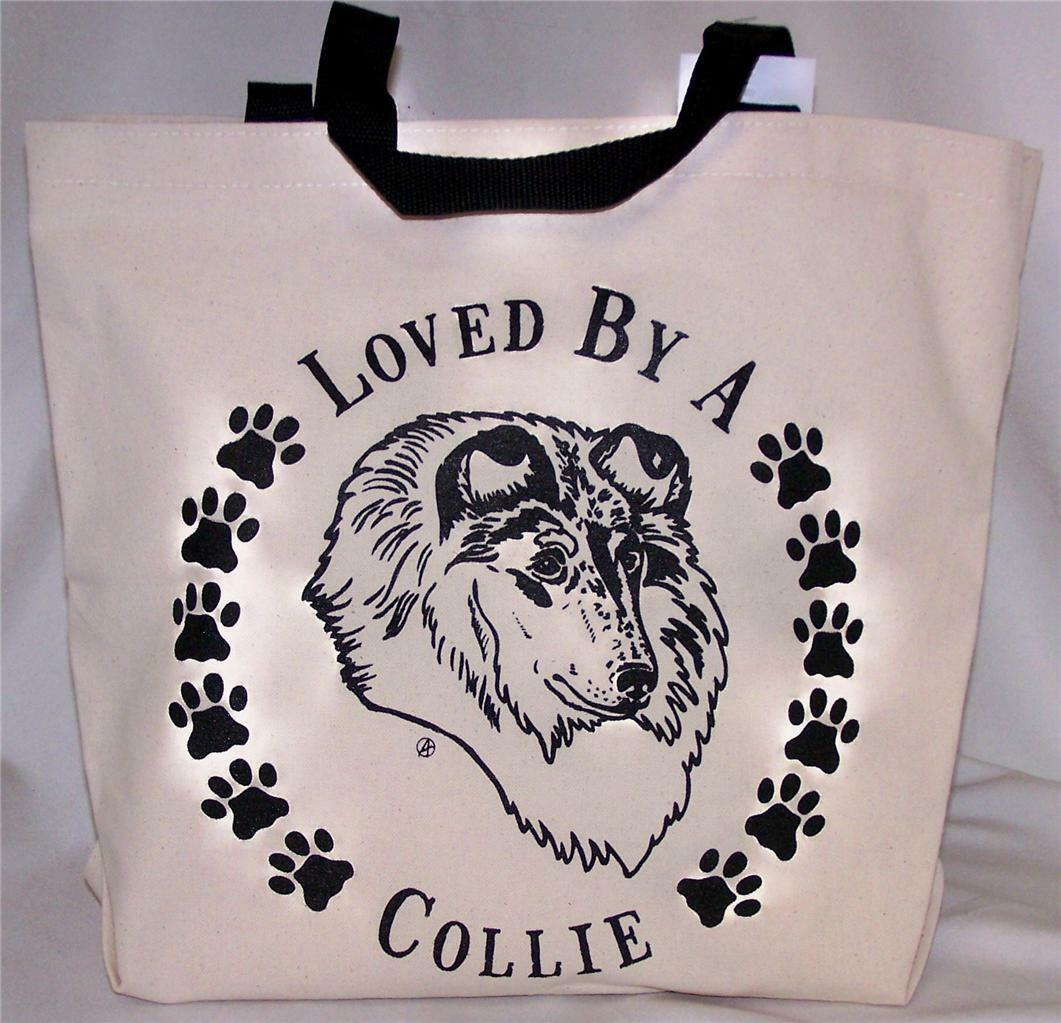 Collie Tote Bags New  MADE IN USA Lot of 10