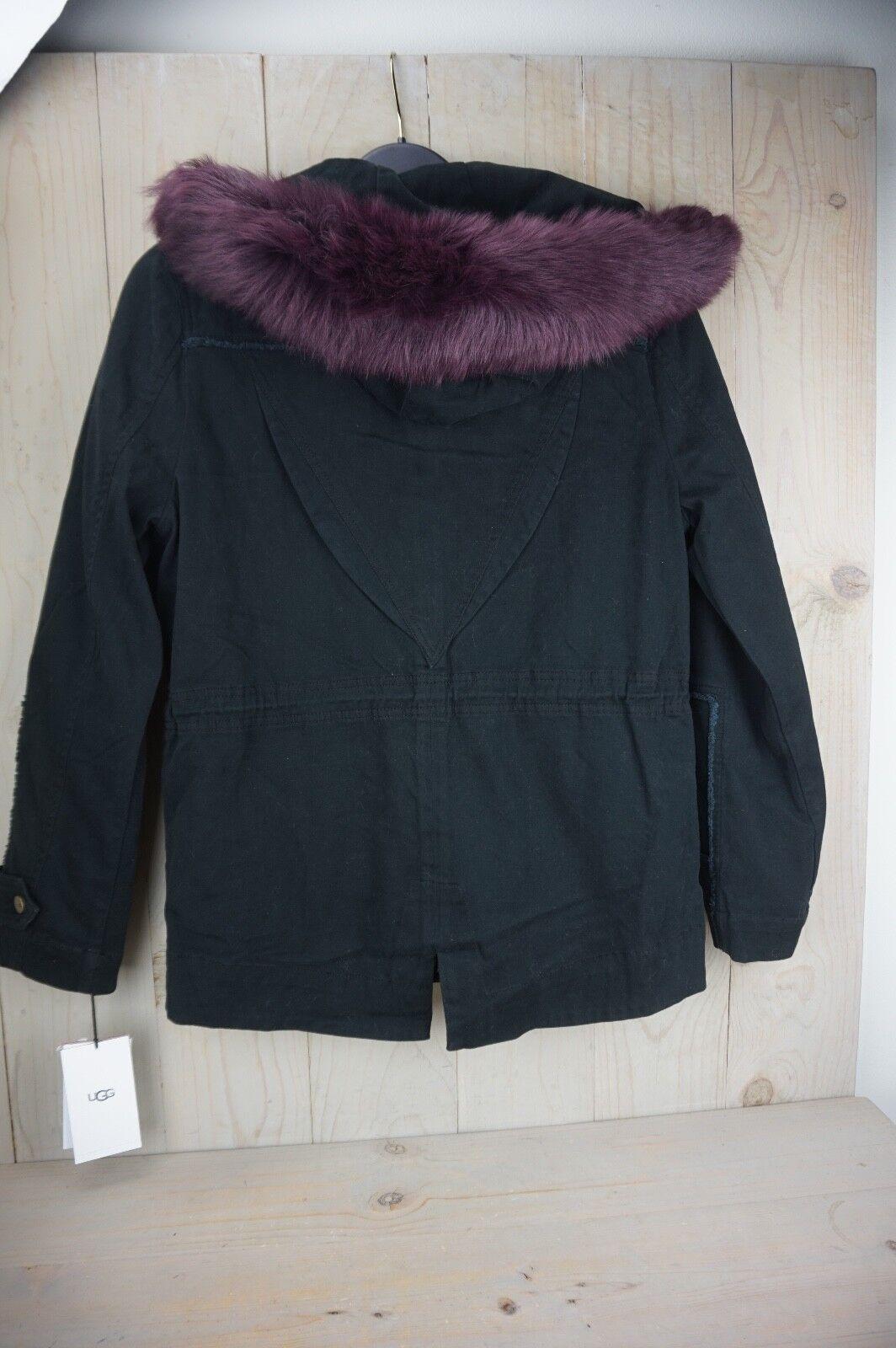 ebead2b9b65 UGG Convertible Field Parka Toscana Fur Trim Hood Womens Medium With Tags