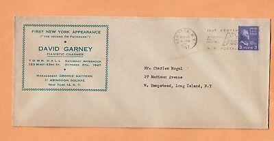 Briefmarken David Garney Pianistic Charmer 1947 Prexy Vintage Werbung Abdeckung
