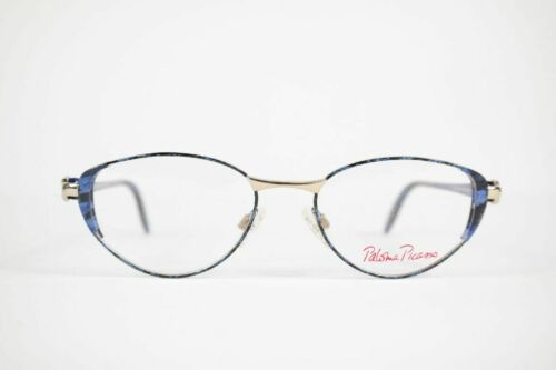 Vintage Paloma Picasso Mod. 8335 907 49 17 130 Blue Golden Oval Glasses Nos
