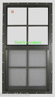 Shed Window 18 X 36 Safety Glass (2 ) Garage Window Brown Flush Barns Playhouse