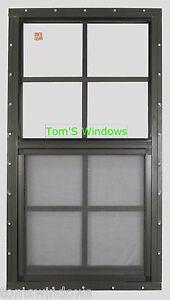 Shed window 18 x 36 safety glass garage window brown flush for 14x27 window