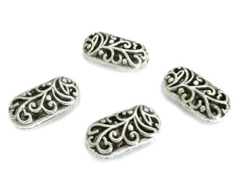 10 abalorios metal ovalada 20mm hueco Antik plata de colores perlas nenad-Design an064